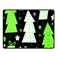 Green Playful Xmas Fleece Blanket (Small)