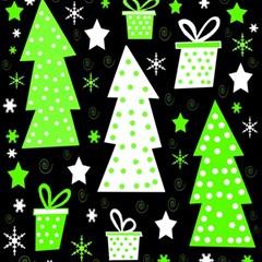 Green Playful Xmas Magic Photo Cubes