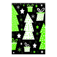 Green Playful Xmas Shower Curtain 48  x 72  (Small)