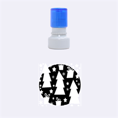 Green Playful Xmas Rubber Round Stamps (Small)