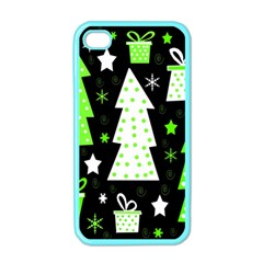 Green Playful Xmas Apple iPhone 4 Case (Color)