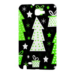 Green Playful Xmas Samsung Galaxy Note 1 Hardshell Case