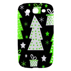 Green Playful Xmas Samsung Galaxy S III Hardshell Case