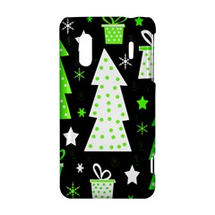 Green Playful Xmas HTC Evo Design 4G/ Hero S Hardshell Case