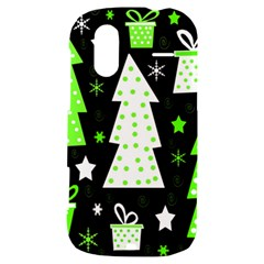 Green Playful Xmas HTC Amaze 4G Hardshell Case
