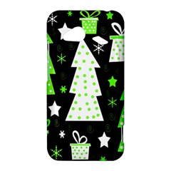 Green Playful Xmas HTC Droid Incredible 4G LTE Hardshell Case