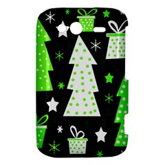 Green Playful Xmas HTC Wildfire S A510e Hardshell Case