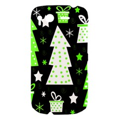 Green Playful Xmas HTC Desire S Hardshell Case