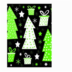 Green Playful Xmas Large Garden Flag (Two Sides)