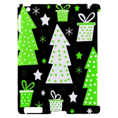 Green Playful Xmas Apple iPad 2 Hardshell Case (Compatible with Smart Cover)