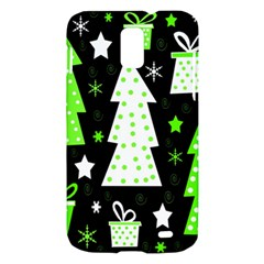 Green Playful Xmas Samsung Galaxy S II Skyrocket Hardshell Case