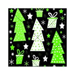 Green Playful Xmas Acrylic Tangram Puzzle (6  x 6 )