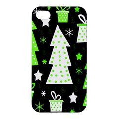 Green Playful Xmas Apple iPhone 4/4S Premium Hardshell Case