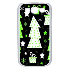 Green Playful Xmas Samsung Galaxy S III Case (White)