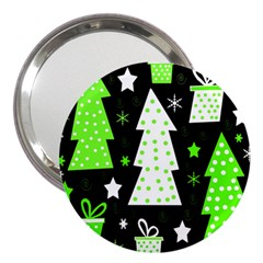 Green Playful Xmas 3  Handbag Mirrors
