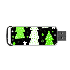 Green Playful Xmas Portable USB Flash (One Side)
