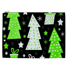 Green Playful Xmas Cosmetic Bag (XXL)