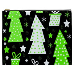 Green Playful Xmas Cosmetic Bag (XXXL)