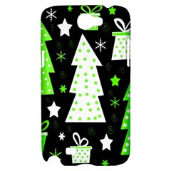 Green Playful Xmas Samsung Galaxy Note 2 Hardshell Case