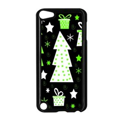 Green Playful Xmas Apple iPod Touch 5 Case (Black)
