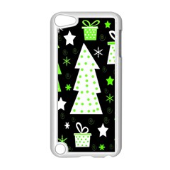 Green Playful Xmas Apple iPod Touch 5 Case (White)