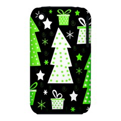 Green Playful Xmas Apple iPhone 3G/3GS Hardshell Case (PC+Silicone)
