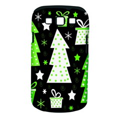 Green Playful Xmas Samsung Galaxy S III Classic Hardshell Case (PC+Silicone)