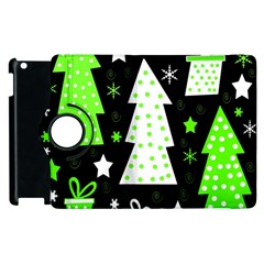 Green Playful Xmas Apple iPad 3/4 Flip 360 Case
