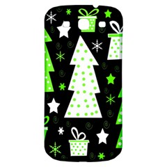 Green Playful Xmas Samsung Galaxy S3 S III Classic Hardshell Back Case