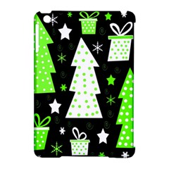 Green Playful Xmas Apple iPad Mini Hardshell Case (Compatible with Smart Cover)