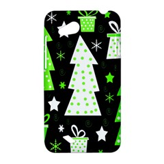Green Playful Xmas HTC Desire VC (T328D) Hardshell Case