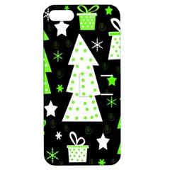 Green Playful Xmas Apple iPhone 5 Hardshell Case with Stand