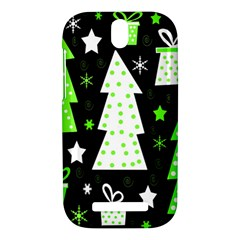 Green Playful Xmas HTC One SV Hardshell Case