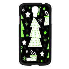 Green Playful Xmas Samsung Galaxy S4 I9500/ I9505 Case (Black)