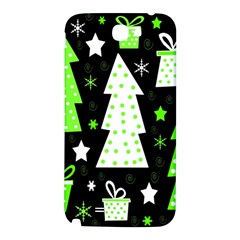 Green Playful Xmas Samsung Note 2 N7100 Hardshell Back Case