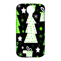 Green Playful Xmas Samsung Galaxy S4 Classic Hardshell Case (PC+Silicone)