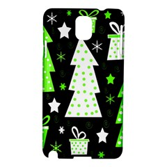 Green Playful Xmas Samsung Galaxy Note 3 N9005 Hardshell Case