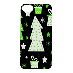 Green Playful Xmas Apple iPhone 5S/ SE Hardshell Case