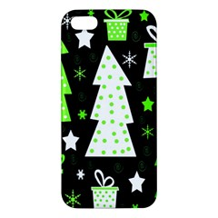 Green Playful Xmas iPhone 5S/ SE Premium Hardshell Case