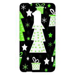 Green Playful Xmas HTC One Max (T6) Hardshell Case
