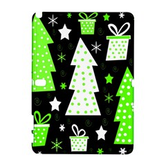 Green Playful Xmas Samsung Galaxy Note 10.1 (P600) Hardshell Case