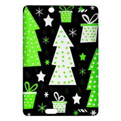 Green Playful Xmas Amazon Kindle Fire HD (2013) Hardshell Case