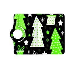 Green Playful Xmas Kindle Fire HD (2013) Flip 360 Case
