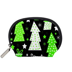 Green Playful Xmas Accessory Pouches (Small)