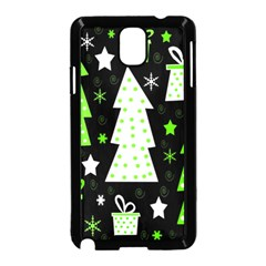 Green Playful Xmas Samsung Galaxy Note 3 Neo Hardshell Case (Black)