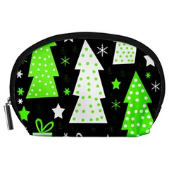 Green Playful Xmas Accessory Pouches (Large)