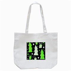 Green Playful Xmas Tote Bag (White)