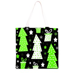 Green Playful Xmas Grocery Light Tote Bag