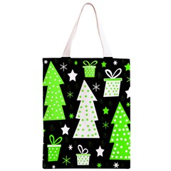 Green Playful Xmas Classic Light Tote Bag
