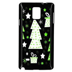 Green Playful Xmas Samsung Galaxy Note 4 Case (Black)